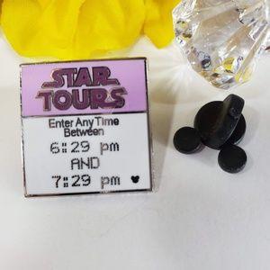 2/$18 Disney Star Tour Hidden Mickey Fast Pass Pin